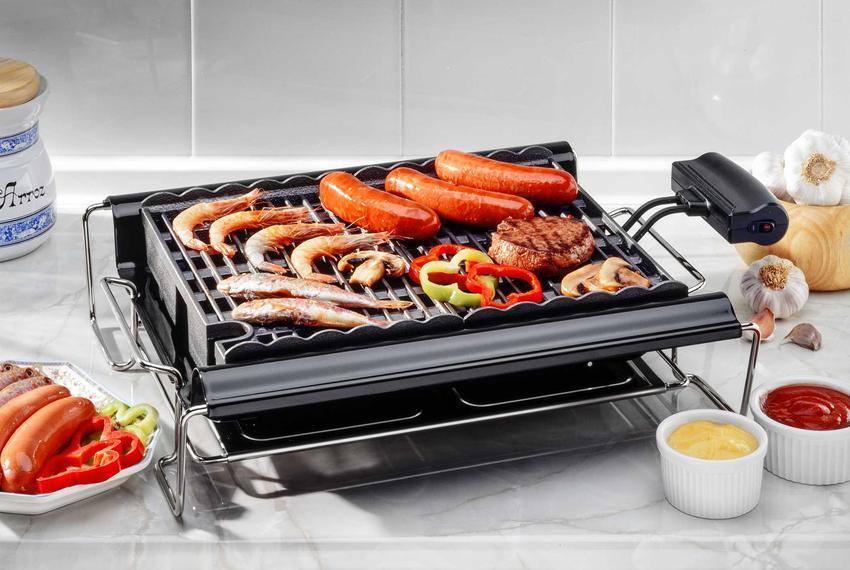 Kiełbaski i mięso na grillu elektrycznym, a także dania z grilla elektrycznego, najlepsze przepisy