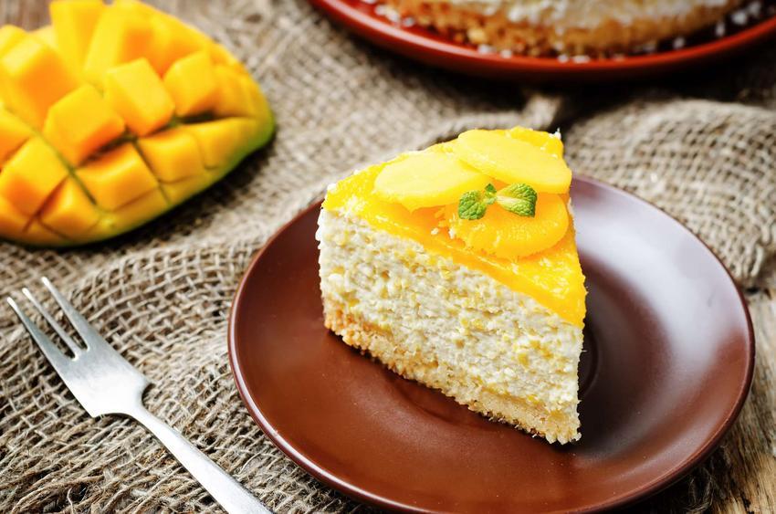Sernik na zimno z mascarpone mango