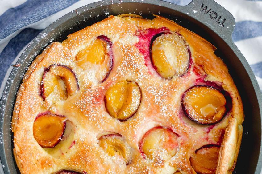 Puszysty omlet marchewkowy na słodko fit z piekarnika