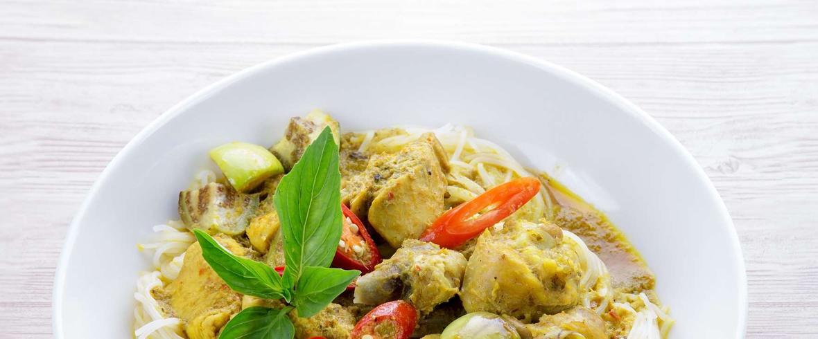 zielone curry
