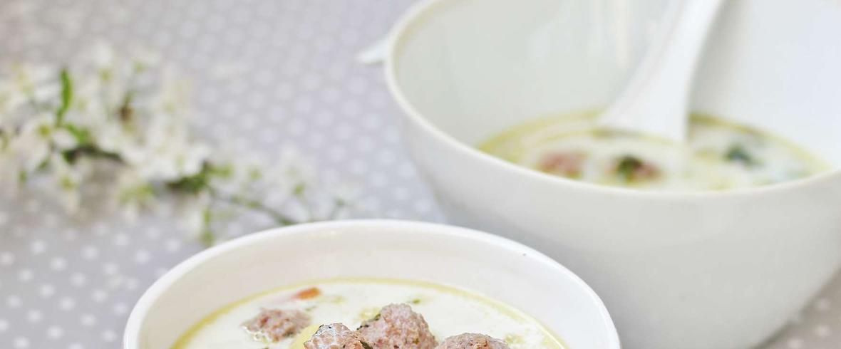 zupa porowa z pulpetami