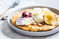 Puszysty omlet na słodko fit a'la sernik bez mąki