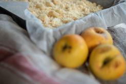 Jabłka pod kruszonką