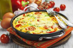 Omlet z pomidorami