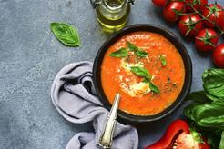 Krem z pomidorów i papryki