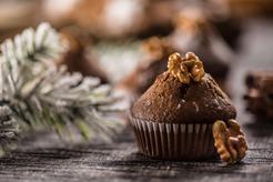 Muffinki fasolowe ze śliwkami suszonymi