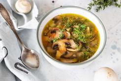 Zupa grzybowa na rosole